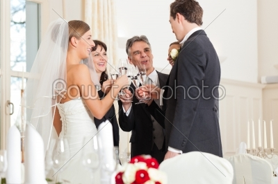 stock photo: wedding party clinking glasses-Raw Stock Photo ID: 41625