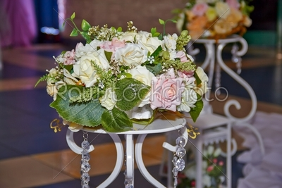 stock photo: wedding table with flowers-Raw Stock Photo ID: 30120
