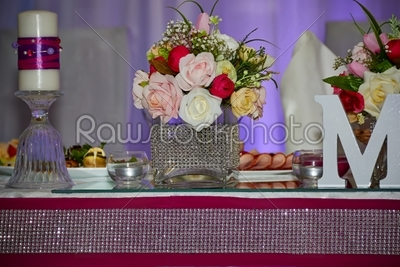 stock photo: wedding table with flowers-Raw Stock Photo ID: 30122