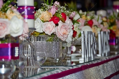 stock photo: wedding table with flowers-Raw Stock Photo ID: 30125