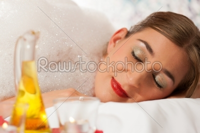 stock photo: wellness  woman getting massage in spa-Raw Stock Photo ID: 42938