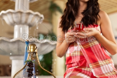 stock photo: wellness  woman is relaxing in relaxation room-Raw Stock Photo ID: 42984