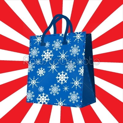 stock vector: winter sales shopping bag-Raw Stock Photo ID: 24965