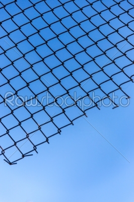 stock photo: wire mesh of blue sky-Raw Stock Photo ID: 33264