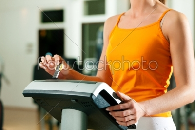 stock photo: woman exercising with modern key system-Raw Stock Photo ID: 41478