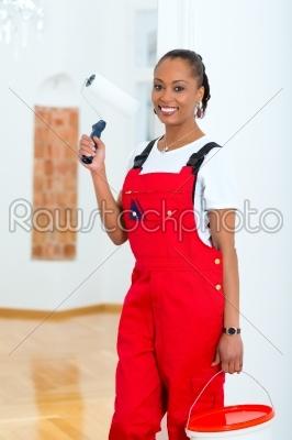 stock photo: woman in her home renovating diy-Raw Stock Photo ID: 47818