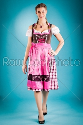 stock photo: woman in traditional clothes  dirndl or tracht-Raw Stock Photo ID: 43969