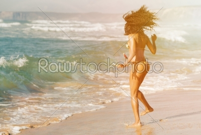 stock photo: woman on beach in summer vacation-Raw Stock Photo ID: 40357