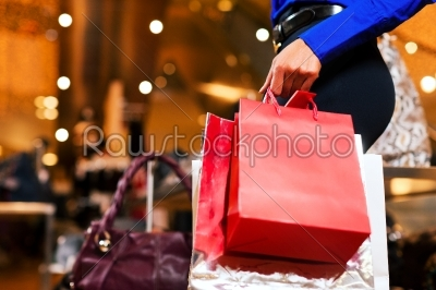 stock photo: woman shopping in mall with bags-Raw Stock Photo ID: 41059
