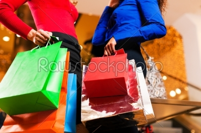 stock photo: woman shopping in mall with bags-Raw Stock Photo ID: 41061