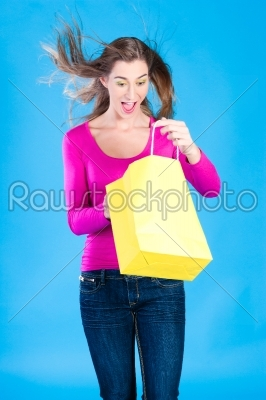 stock photo: woman with colored shopping bags-Raw Stock Photo ID: 47372