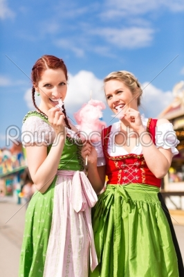 stock photo: women in traditional bavarian clothes or dirndl on festival-Raw Stock Photo ID: 45091