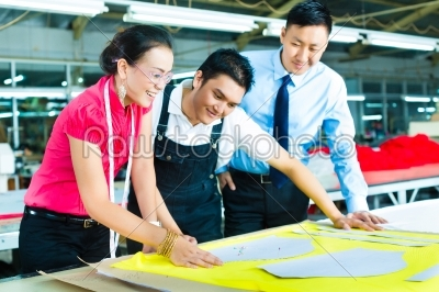 stock photo: worker dressmaker and ceo in a factory-Raw Stock Photo ID: 47442