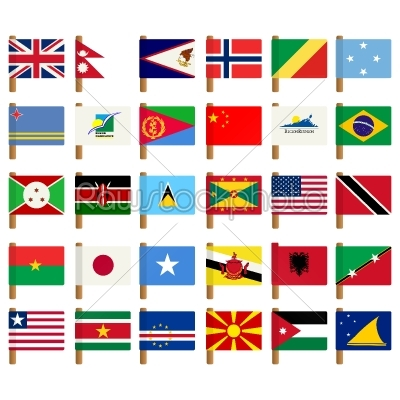 stock vector: world flag icons set  5-Raw Stock Photo ID: 24954