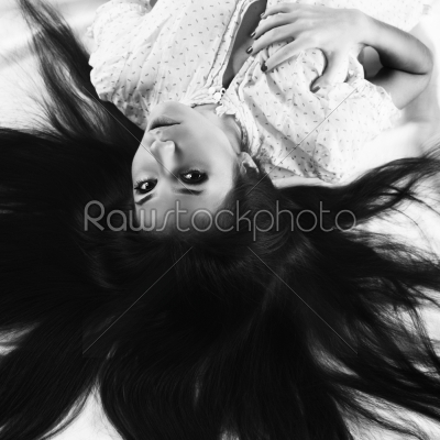 stock photo: young brunette-Raw Stock Photo ID: 18267