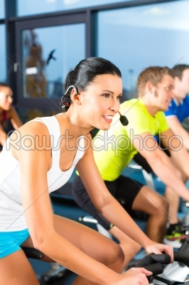 stock photo: young people  group of women and men  doing sport spinning in the gym for fitness-Raw Stock Photo ID: 47177