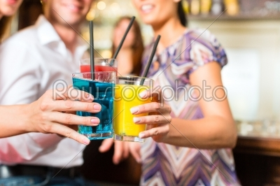 stock photo: young people with cocktails in bar-Raw Stock Photo ID: 45434