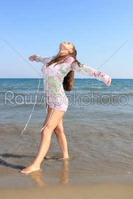 stock photo: young woman in the sea-Raw Stock Photo ID: 13151
