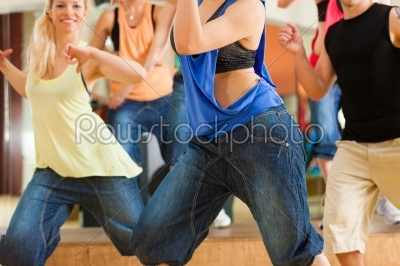 stock photo: zumba or jazzdance  young people dancing in studio-Raw Stock Photo ID: 44110
