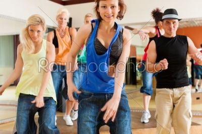 stock photo: zumba or jazzdance  young people dancing in studio-Raw Stock Photo ID: 44112