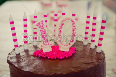 stock photo: 10th birthday cake decoration-Raw Stock Photo ID: 75063