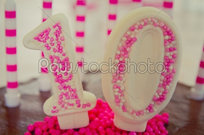 stock photo: 10th birthday cake decoration-Raw Stock Photo ID: 75064
