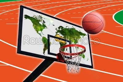 stock photo: a panel of basketball-Raw Stock Photo ID: 53053