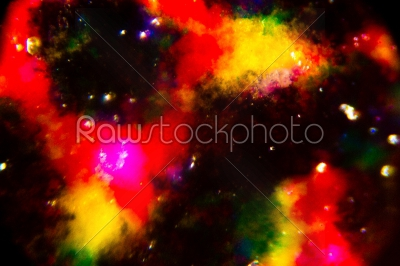 stock photo: abstract ink spot in many color print on flyer paper under the m-Raw Stock Photo ID: 75085