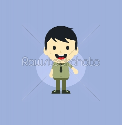 stock vector: adorable boy cartoon character-Raw Stock Photo ID: 69141