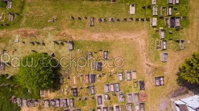 stock photo: aerial graveyard-Raw Stock Photo ID: 75014