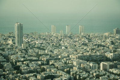 stock photo: aerial view of the city of tel aviv israel on hazy day-Raw Stock Photo ID: 75106