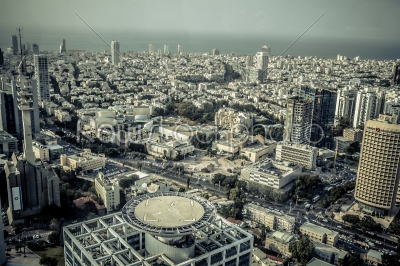 stock photo: aerial view of the city of tel aviv israel-Raw Stock Photo ID: 75107