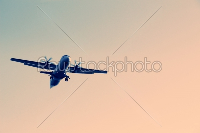 stock photo: airplane flying in the sky-Raw Stock Photo ID: 75103