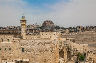 stock photo: alaqsa mosque  in the old city of jerusalem israel viewed from -Raw Stock Photo ID: 75108