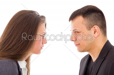 stock photo: angry couple not trusting each other-Raw Stock Photo ID: 52401
