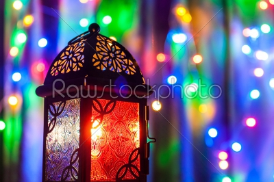 stock photo: arabic lantern with illumination-Raw Stock Photo ID: 75050