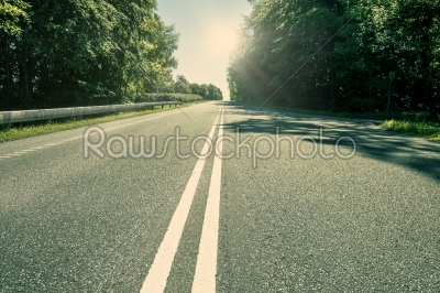 stock photo: asphalt highway with green trees-Raw Stock Photo ID: 65916