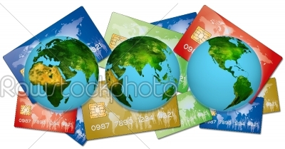 stock photo: bank credit cards-Raw Stock Photo ID: 67844