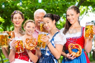 stock photo: beer garden  friends drinking in bavaria pub-Raw Stock Photo ID: 49447
