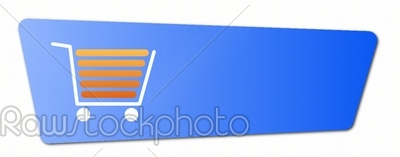 stock photo: blue shopping cart button-Raw Stock Photo ID: 57643