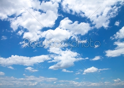 stock photo: blue sky with clouds close up-Raw Stock Photo ID: 60024