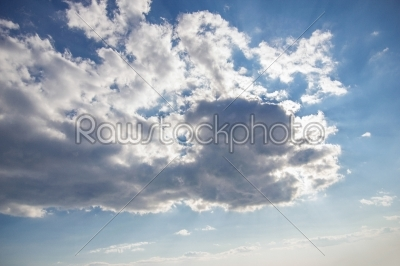stock photo: blue sky with clouds-Raw Stock Photo ID: 52508