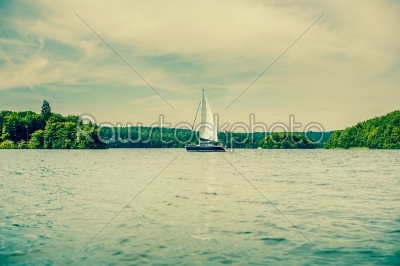 stock photo: boat with sail on a lake-Raw Stock Photo ID: 66003