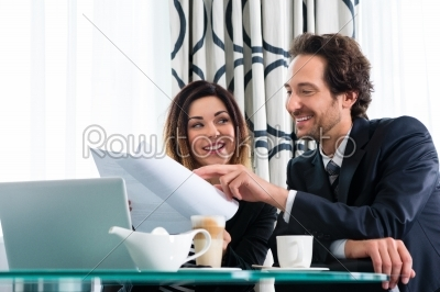 stock photo: boss and assistant or in hotel working together-Raw Stock Photo ID: 48993