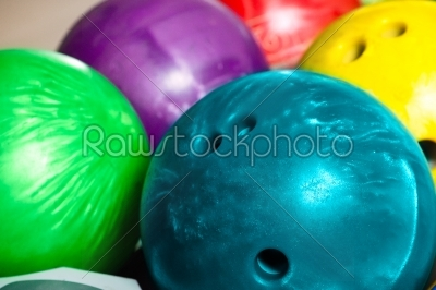 stock photo: bowling balls in ten pin or bowling alley-Raw Stock Photo ID: 49337
