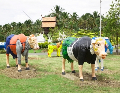 stock photo: buffalo statue-Raw Stock Photo ID: 60990