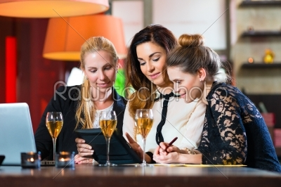 stock photo: business colleagues working with documents in a cafe-Raw Stock Photo ID: 48807