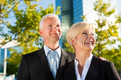 stock photo: business people in a park outdoors-Raw Stock Photo ID: 51890