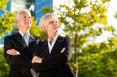 stock photo: business people in a park outdoors-Raw Stock Photo ID: 51892