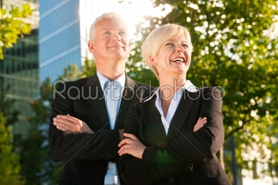 stock photo: business people in a park outdoors-Raw Stock Photo ID: 51895